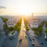 Sunset from Arc de Triomphe